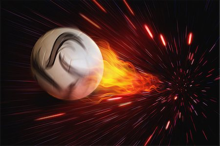 Soccer Ball In Flames Stock Photo - Rights-Managed, Code: 858-06159401