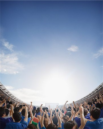 Supporters Cheering Stock Photo - Rights-Managed, Code: 858-06617613