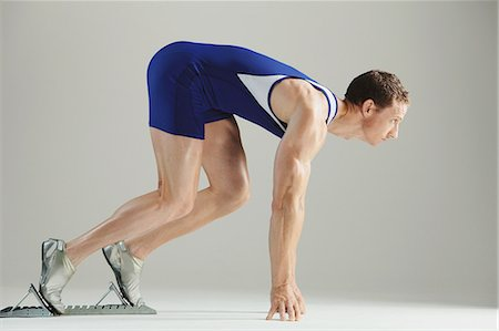 sprint - Athlete Ready To Run Stock Photo - Rights-Managed, Code: 858-06617648