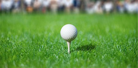 Golf Ball On Golf Tee Stock Photo - Rights-Managed, Code: 858-06756026