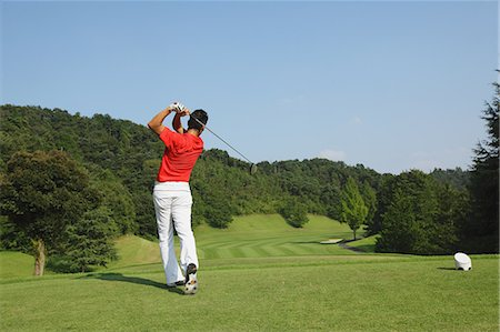 Golfer Swinging Club Stock Photo - Rights-Managed, Code: 858-06756163
