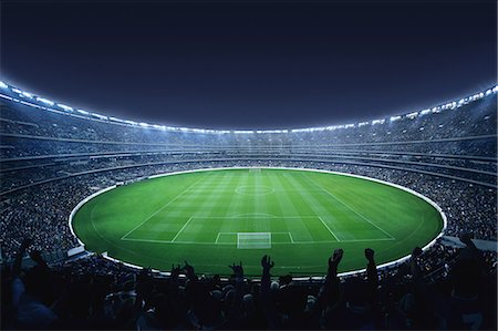 Football Stadium With Full Crowd Stock Photo - Rights-Managed, Code: 858-06756193