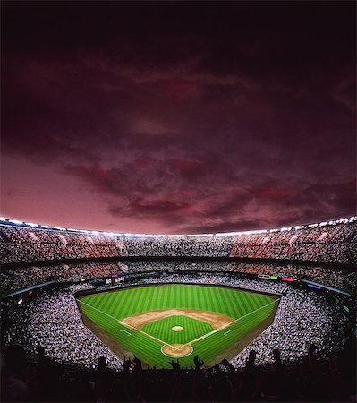 pretty background designs - Baseball Stadium Stock Photo - Rights-Managed, Code: 858-06756204