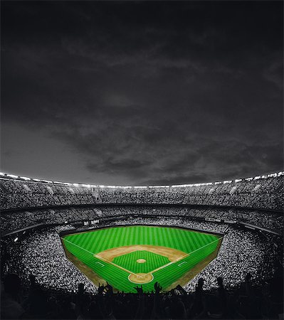 pretty background designs - Baseball Stadium Stock Photo - Rights-Managed, Code: 858-06756206
