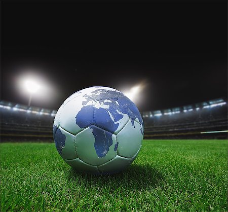 Football on Grass with African Map Stock Photo - Rights-Managed, Code: 858-06756268
