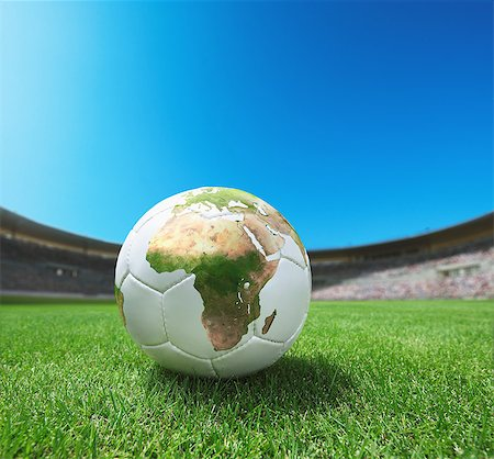 Football on Grass with African Map Stock Photo - Rights-Managed, Code: 858-06756269