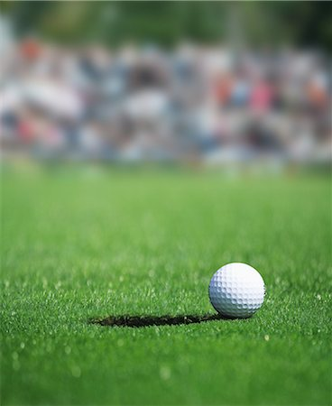 Golf Ball On Green Grass Stock Photo - Rights-Managed, Code: 858-06756444