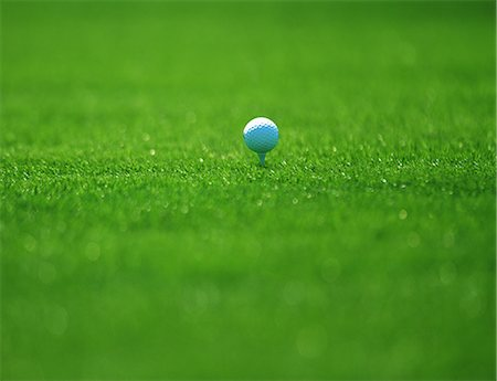 Golf Ball On Grass Stock Photo - Rights-Managed, Code: 858-06756447