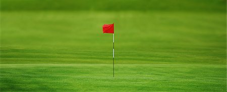 Golf Flag In Golf Course Stock Photo - Rights-Managed, Code: 858-06756449