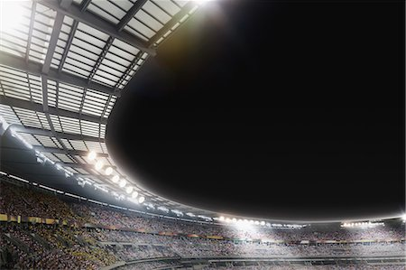 soccer fan - Stadium at night Stock Photo - Rights-Managed, Code: 858-07711490