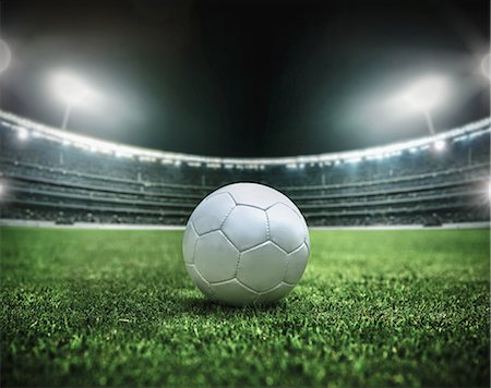Soccer ball in a stadium at night Stock Photo - Rights-Managed, Code: 858-07711491