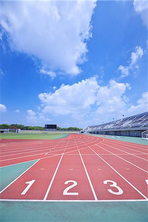 race track (people) - Running track at athletics stadium Stock Photo - Rights-Managed, Code: 858-07992294