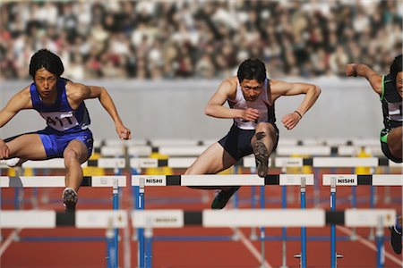 Hurdlers Stock Photo - Rights-Managed, Code: 858-03046995