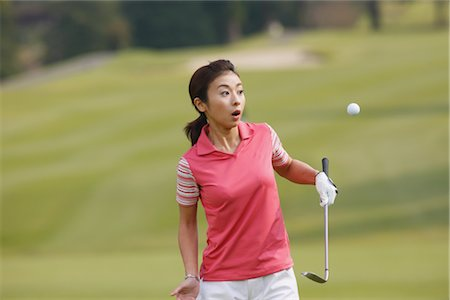 dangerous accident - Golfer Stock Photo - Rights-Managed, Code: 858-03048874