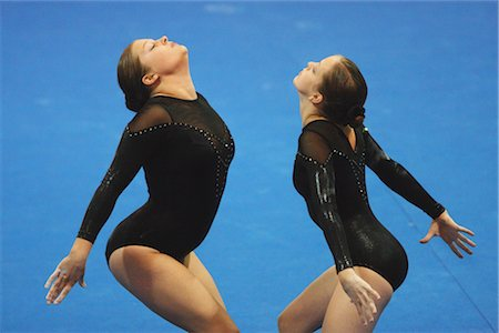 Performers doing gymnastics together Stock Photo - Rights-Managed, Code: 858-03048887