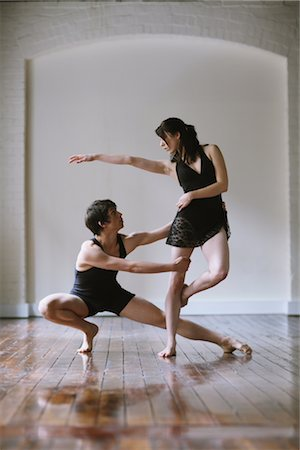 Ballet dancers practicing together in a room Stock Photo - Rights-Managed, Code: 858-03049471