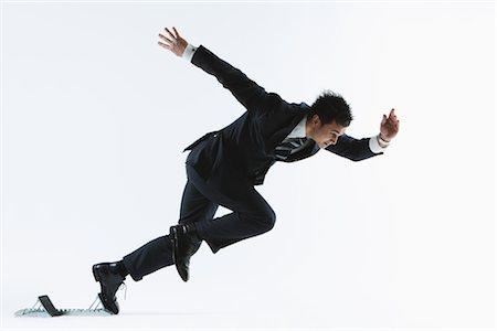 sprint - Businessman Leaving Sprinting Blocks Stock Photo - Rights-Managed, Code: 858-03049851