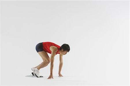 sprint - Sprinter Preparing Stock Photo - Rights-Managed, Code: 858-03049879