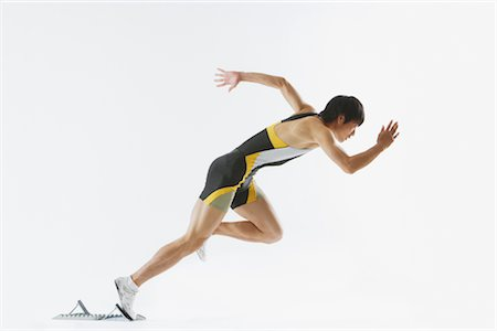 sprint - Sprinter Stock Photo - Rights-Managed, Code: 858-03049894