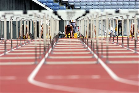 Runner on competitive track Stock Photo - Rights-Managed, Code: 858-03050040