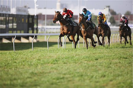 Group of horse racing in a horse race Stock Photo - Rights-Managed, Code: 858-03050482