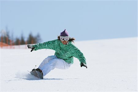 sports and snowboarding - Snowboarder Riding on Snowfield Stock Photo - Rights-Managed, Code: 858-03448664
