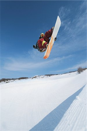sports and snowboarding - Snowboarder  in Mid-air Stock Photo - Rights-Managed, Code: 858-03448696