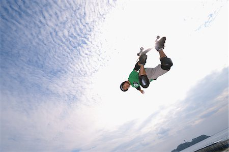 Skateboarder getting some air Stock Photo - Rights-Managed, Code: 858-03799621