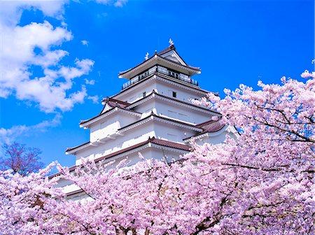 Tsuruga Castle, Fukushima Prefecture, Japan Stock Photo - Rights-Managed, Code: 859-06380125