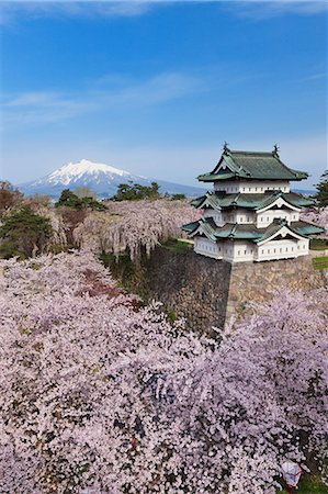 Hirosaki Castle, Aomori Prefecture, Japan Stock Photo - Rights-Managed, Code: 859-06380178