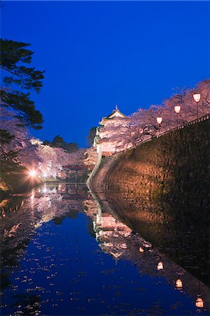 Hirosaki Castle, Aomori Prefecture, Japan Stock Photo - Rights-Managed, Code: 859-06380341