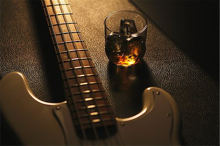 Musical equipment and drink Stock Photo - Rights-Managed, Code: 859-06537955