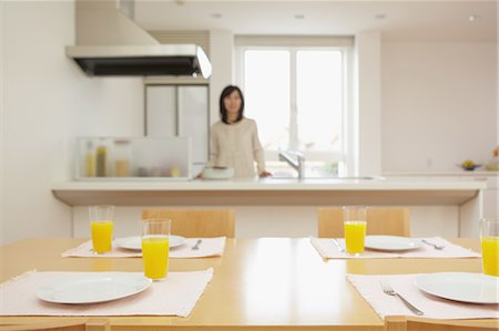 setting kitchen table - Eat in kitchen Stock Photo - Rights-Managed, Code: 859-06538414