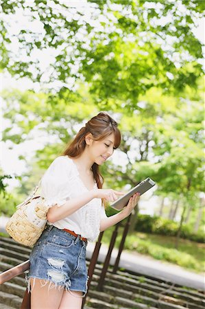 Woman With Tablet Stock Photo - Rights-Managed, Code: 859-06617467