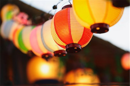 Japanese paper lanterns Stock Photo - Rights-Managed, Code: 859-06710955