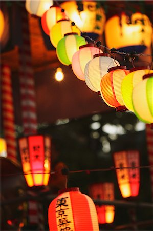Japanese paper lanterns Stock Photo - Rights-Managed, Code: 859-06710956