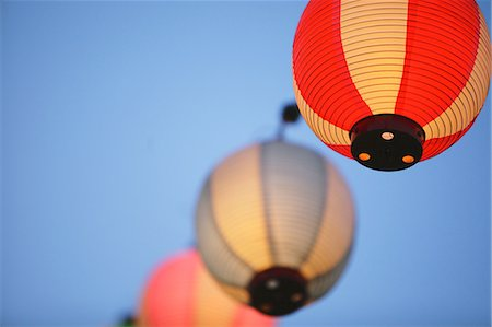 Japanese paper lanterns Stock Photo - Rights-Managed, Code: 859-06710951