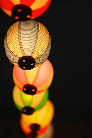 Japanese paper lanterns Stock Photo - Rights-Managed, Code: 859-06710953