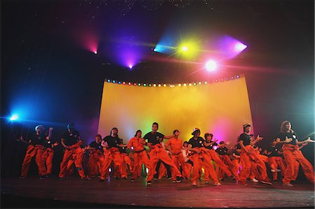stage show - Group of dancers performing Stock Photo - Rights-Managed, Code: 859-06710994