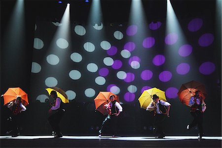 stage show - Group of dancers performing Stock Photo - Rights-Managed, Code: 859-06710996