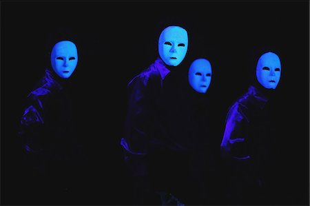 stage show - Dancers with white masks Stock Photo - Rights-Managed, Code: 859-06710991