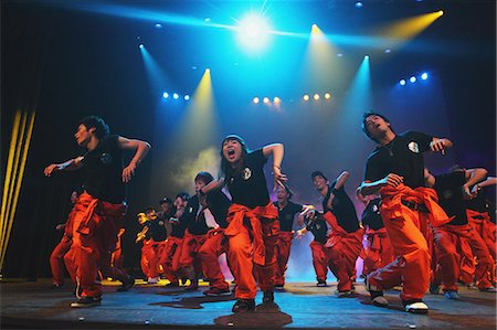 stage show - Group of dancers performing Stock Photo - Rights-Managed, Code: 859-06710993