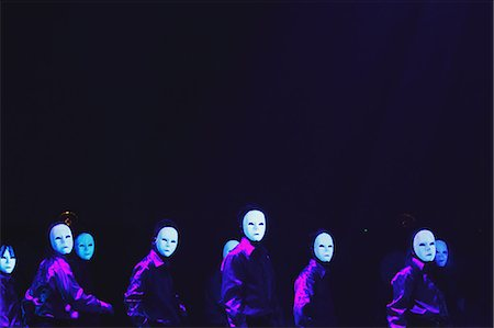 stage show - Group of dancers wearing masks Stock Photo - Rights-Managed, Code: 859-06711137