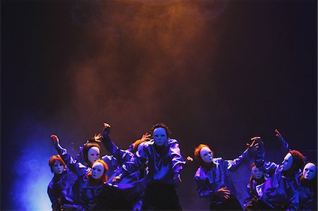 stage show - Group of dancers wearing masks Stock Photo - Rights-Managed, Code: 859-06711138