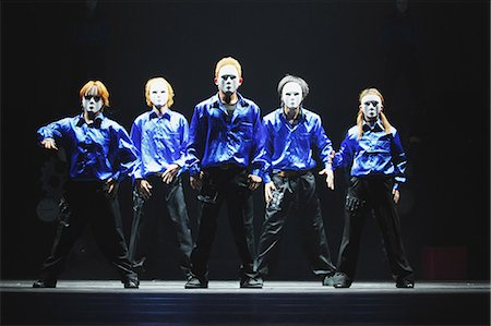 stage show - Group of dancers wearing masks Stock Photo - Rights-Managed, Code: 859-06711139