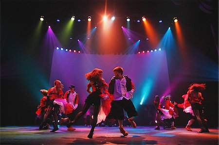 entertainment - Group of dancers performing Stock Photo - Rights-Managed, Code: 859-06711141