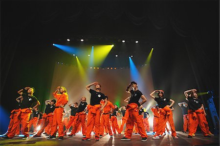 stage show - Group of dancers performing Stock Photo - Rights-Managed, Code: 859-06711143