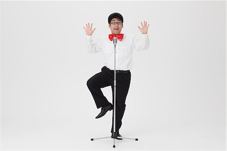 standing - Comedian performing Stock Photo - Rights-Managed, Code: 859-06711152