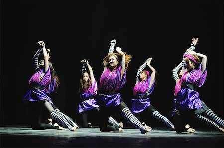 stage show - Group of dancers performing Stock Photo - Rights-Managed, Code: 859-06711164