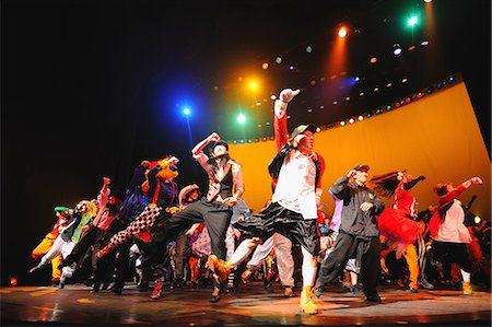 stage show - Group of dancers performing Stock Photo - Rights-Managed, Code: 859-06711161